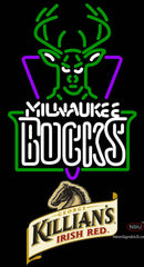Killians Milwaukee Bucks NBA Neon Beer Sign