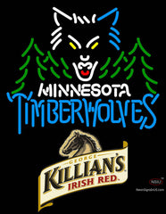 Killians Minnesota Timber Wolves NBA Neon Beer Sign