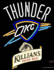 Killians Oklahoma City Thunder NBA Neon Beer Sign