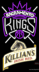 Killians Sacramento Kings NBA Neon Beer Sign