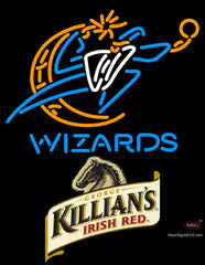 Killians Washington Wizards NBA Neon Beer Sign