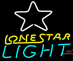 Lone Star Light Beer Neon Bar Sign Pool Room Man Cave Necessity