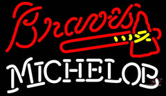 Michelob Atlanta Braves MLB Neon Sign