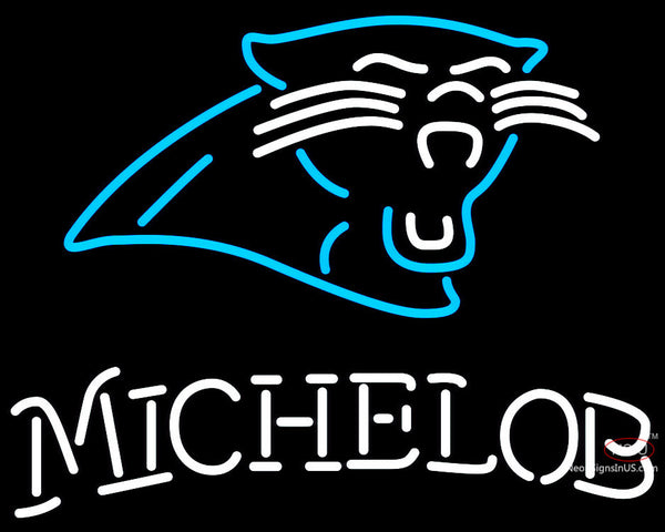 Michelob Carolina Panthers NFL Neon Sign  7