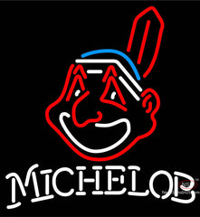 Michelob Cleveland Indians MLB Neon Sign
