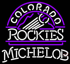 Michelob Colorado Rockies MLB Neon Sign