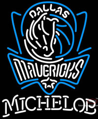 Michelob Dallas Mavericks NBA Neon Sign