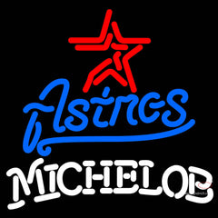 Michelob Houston Astros MLB Neon Sign   x