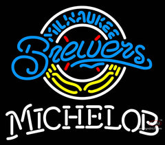 Michelob Milwaukee Brewers MLB Neon Sign
