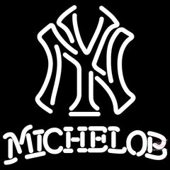 Michelob New York Yankees White MLB Neon Sign   x