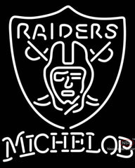 Michelob Oakland Raiders NFL Neon Sign