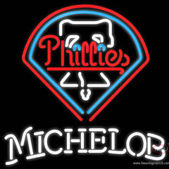 Michelob Philadelphia Phillies MLB Real Neon Glass Tube Neon Sign