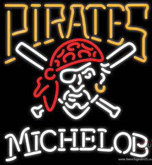 Michelob Pittsburgh Pirates MLB Real Neon Glass Tube Neon Sign