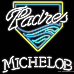 Michelob San Diego Padres MLB Real Neon Glass Tube Neon Sign