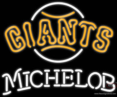 Michelob San Francisco Giants MLB Real Neon Glass Tube Neon Sign