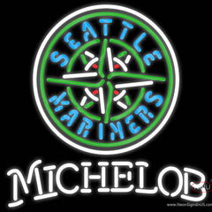 Michelob Seattle Mariners MLB Real Neon Glass Tube Neon Sign