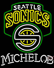 Michelob Seattle Supersonics NBA Neon Sign