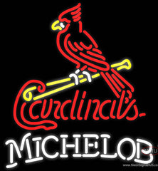 Michelob St Louis Cardinals MLB Real Neon Glass Tube Neon Sign