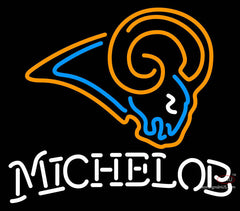 Michelob St Louis Rams NFL Neon Sign