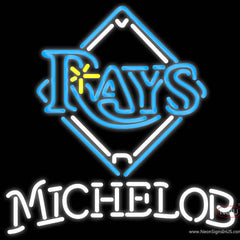Michelob Tampa Bay Rays MLB Real Neon Glass Tube Neon Sign