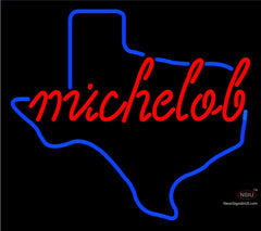 Red Michelob Texas Neon Beer Sign