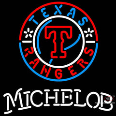 Michelob Texas Rangers MLB Neon Sign