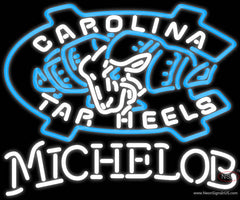 Michelob Unc North Carolina Tar Heels MLB Real Neon Glass Tube Neon Sign  7