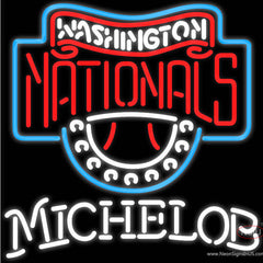 Michelob Washington Nationals MLB Real Neon Glass Tube Neon Sign  7