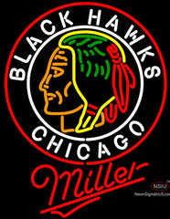 Miller Commemorative  Chicago Blackhawks Neon Sign