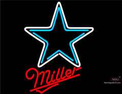 Miller Dallas Cowboys NFL Neon Sign