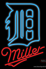 Miller Detroit Tigers MLB Real Neon Glass Tube Neon Sign