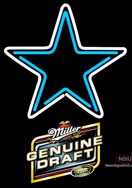 Miller Genuine Draft Dallas Cowboys NFL Neon Sign