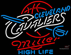 Miller High Life Cleveland Cavaliers NBA Neon Sign