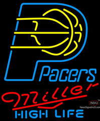 Miller High Life Indiana Pacers NBA Neon Sign