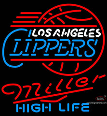 Miller High Life Los Angeles Clippers NBA Neon Sign