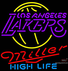 Miller High Life Los Angeles Lakers NBA Neon Sign