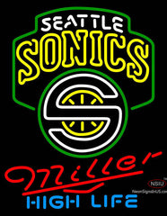 Miller High Life Seattle Supersonics NBA Neon Sign