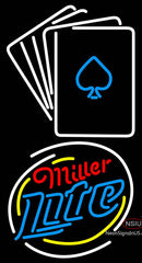 Miller Lite Cards Neon Sign