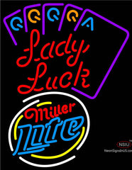 Miller Lite Lady Luck Series Neon Sign