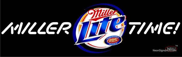 Miller Lite Miller Time Neon Beer Sign