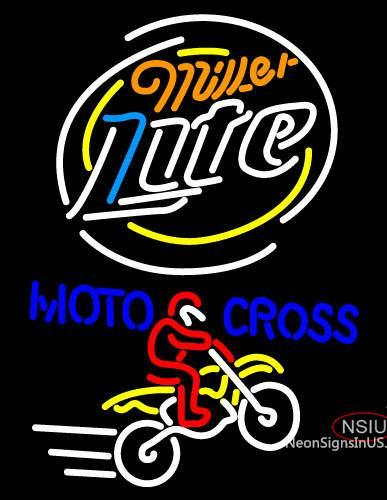 Miller Light Motocross Neon Beer Sign
