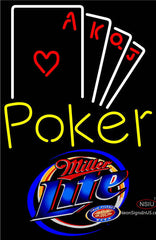 Miller Lite Poker Ace Series Neon Sign