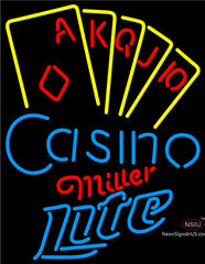 Miller Lite Poker Casino Ace Series Neon Sign