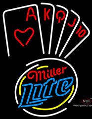 Miller Lite Poker Series Neon Sign