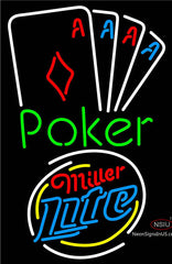 Miller Lite Poker Tournament Neon Sign