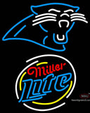 Miller Lite Rounded Carolina Panthers NFL Neon Sign