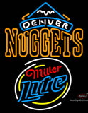 Miller Lite Rounded Denver Nuggets NBA Neon Sign  7