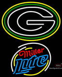 Miller Lite Rounded Green Bay Packers NFL Neon Sign