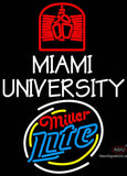 Miller Lite Rounded Miami UNIVERSITY Neon Sign