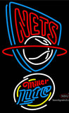 Miller Lite Rounded New Jersey Nets NBA Neon Sign  7